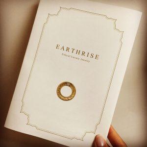 EARTHRISEリーフレット。エシカルジュエラーであるために大切にしている10のこと
