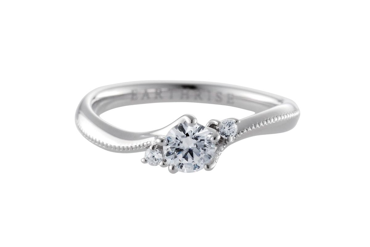 エシカルジュエリー婚約指輪 きらめき螺旋