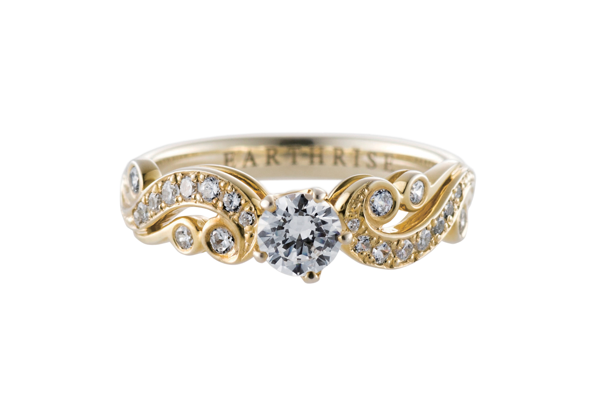 エシカルジュエリー婚約指輪 唐草