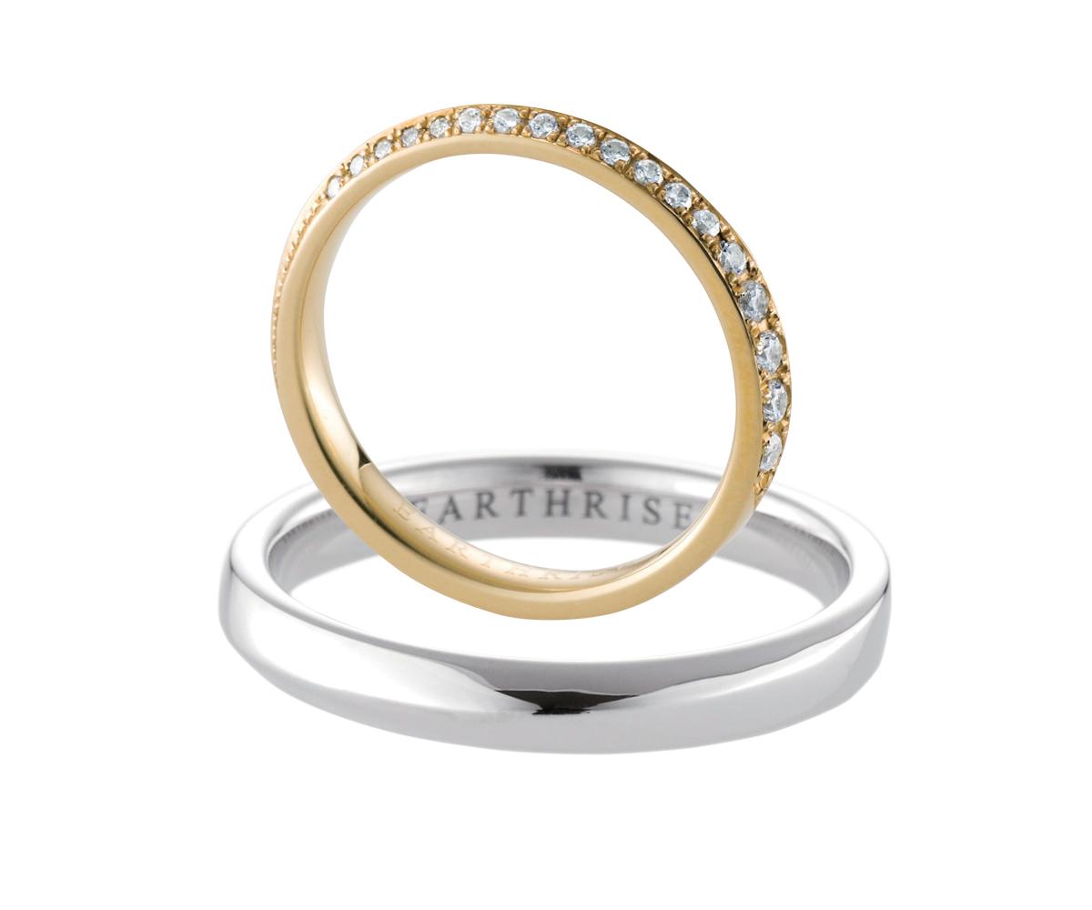 エシカルジュエリー 結婚指輪 星の橋Sブリリアンス、星の橋M