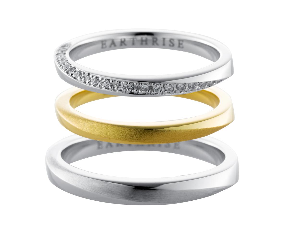エシカルジュエリー 結婚指輪 メビウスS、メビウスSブリリアンス、メビウスM
