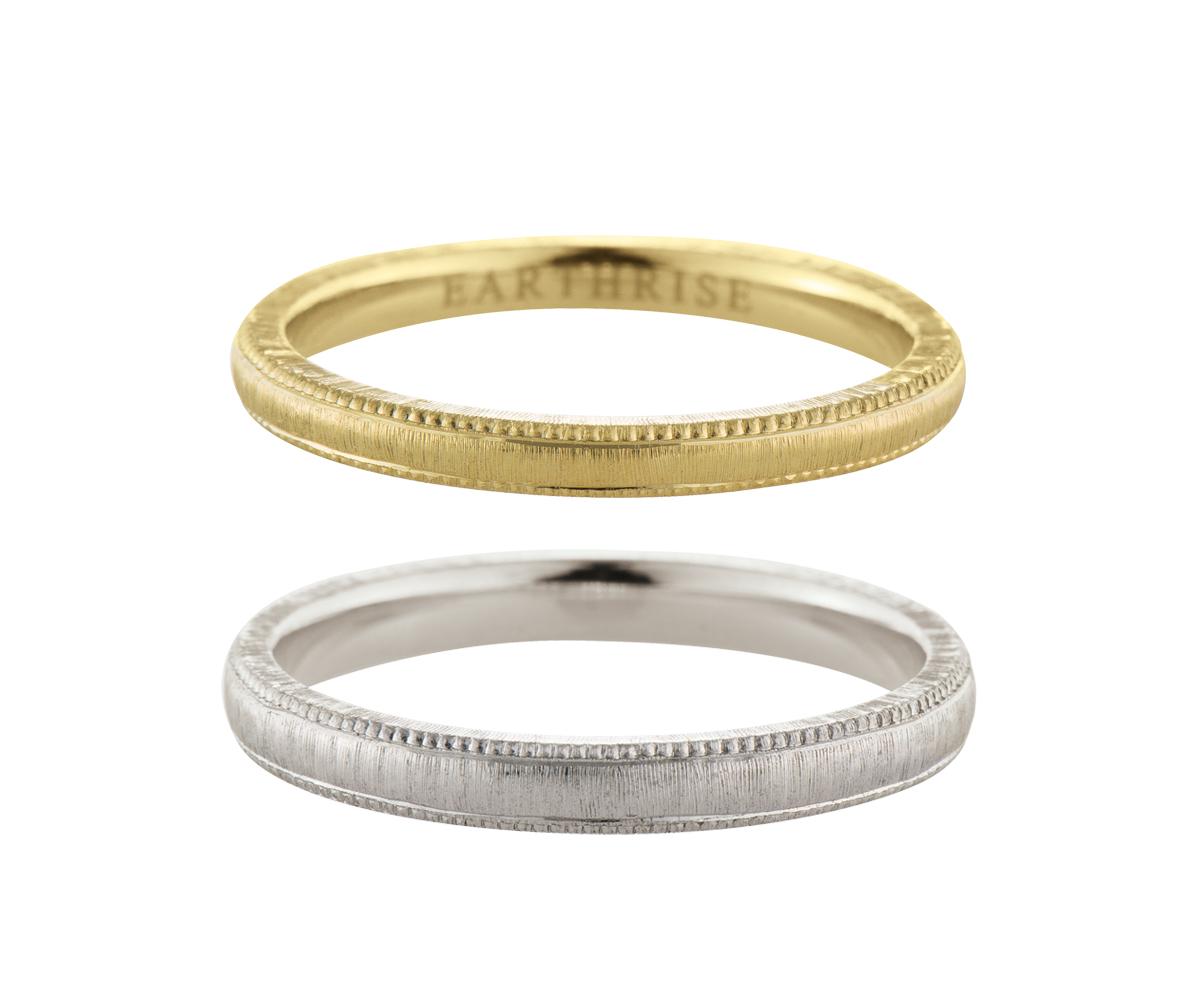 エシカルジュエリー 結婚指輪 繻子