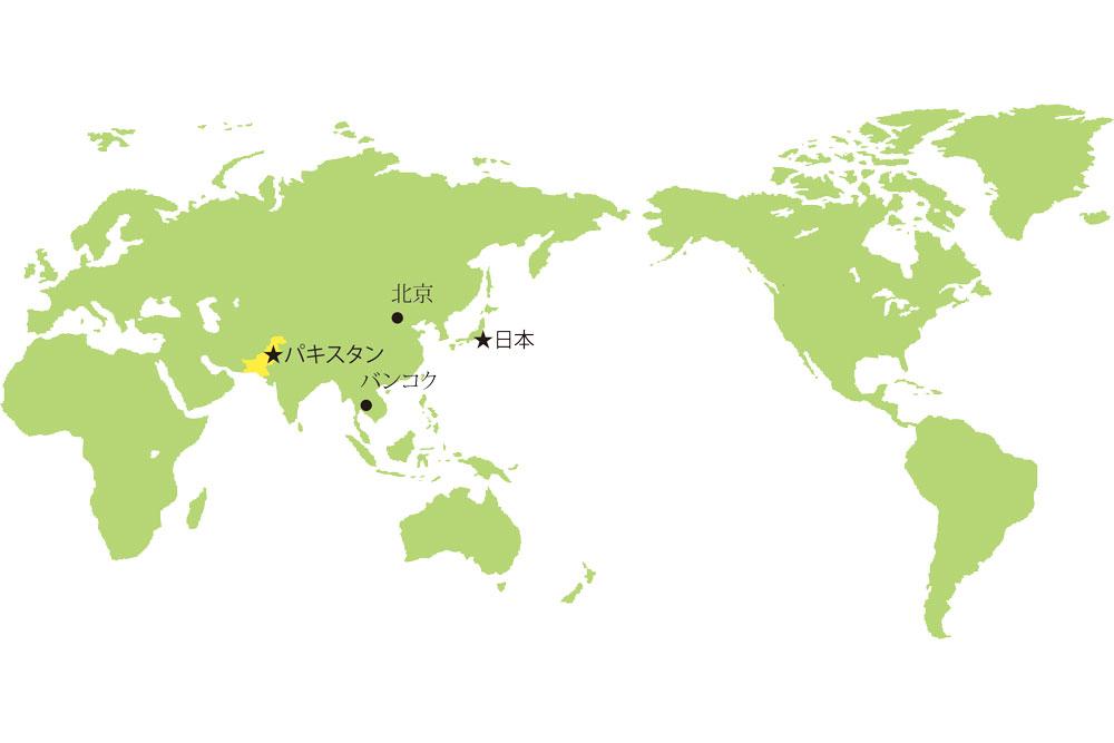 ワールドマップ(パキスタンの位置)