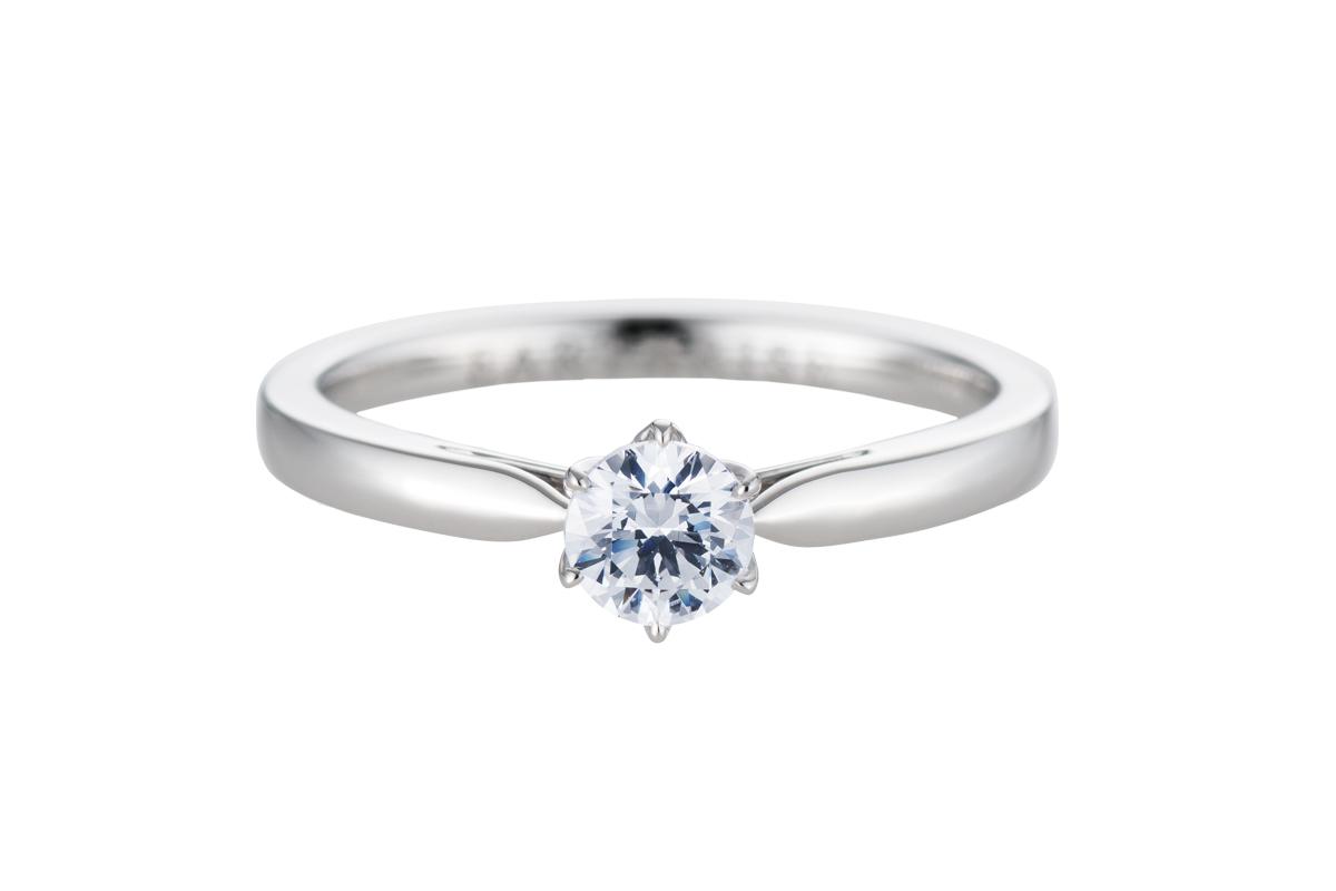 エシカルジュエリー婚約指輪 百合