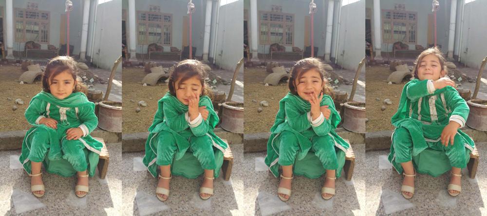 パキスタンの女の子。ママは研磨職人♡