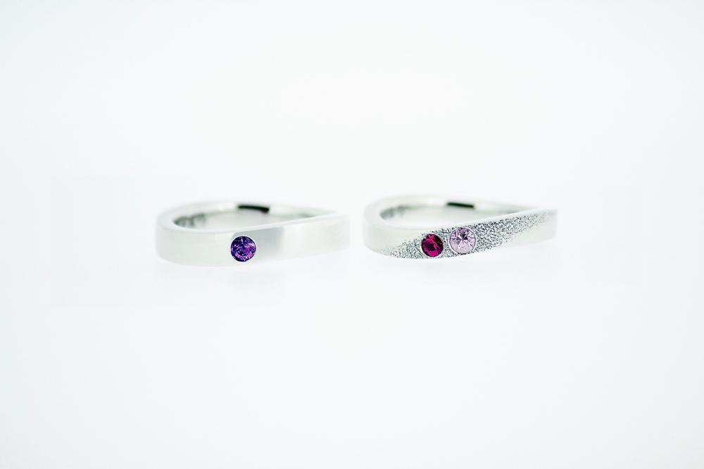 【オーダーメイド】結婚指輪(エシカル・ルビー&サファイア)