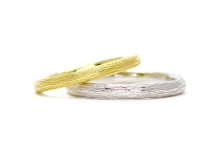 結婚指輪・森(木肌)デザイン・エシカル・フェアトレードジュエリー1