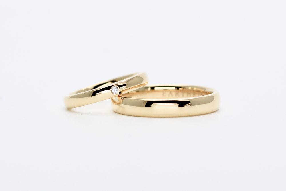 お客さまの声・結婚指輪・earth・シャンパンゴールド