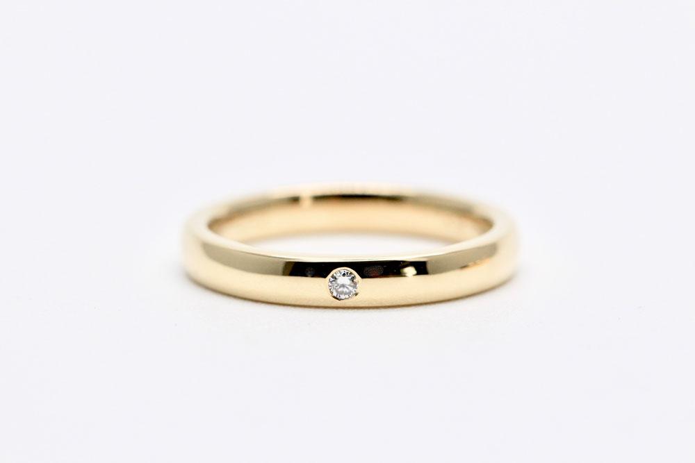 結婚指輪・earth・シャンパンゴールド・オーストラリア産エシカルダイヤモンド