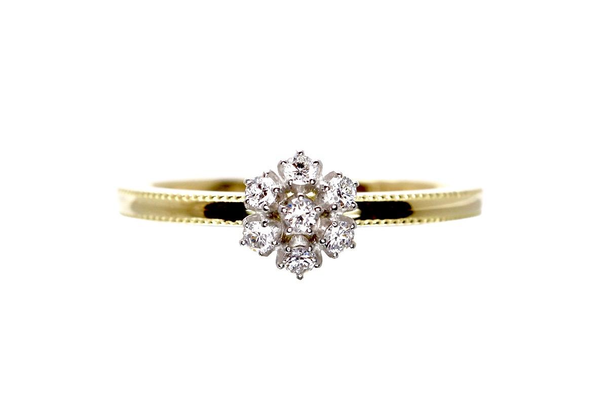 雪の花 婚約指輪(エンゲージメントリグ)